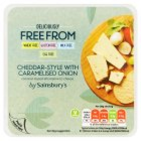 Sainsburys Deliciously Free From Cheddar Style With Onion